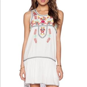 I Heart Baby Doll Floral Embroidered Dress Revolve